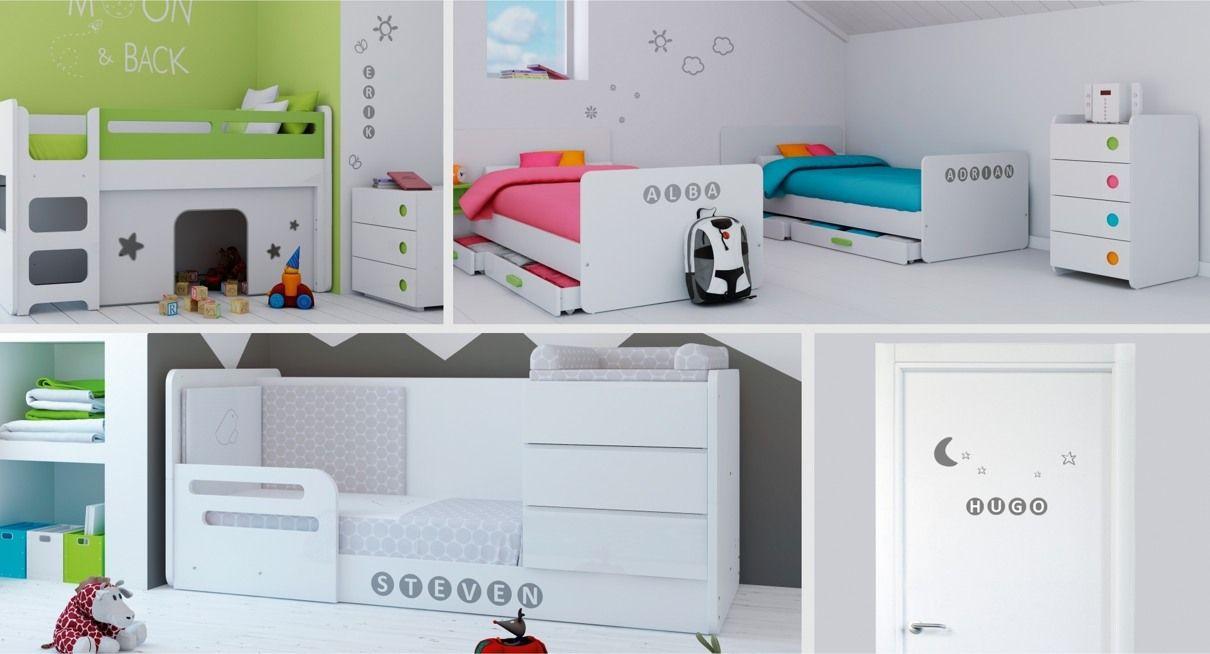 Ideas para decoración de dormitorios infantiles con vinilos ...