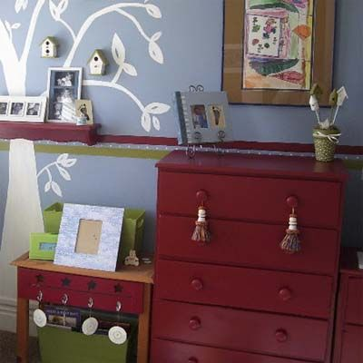 mismatched bedroom furniture painted a matching red color i love the rh pinterest com