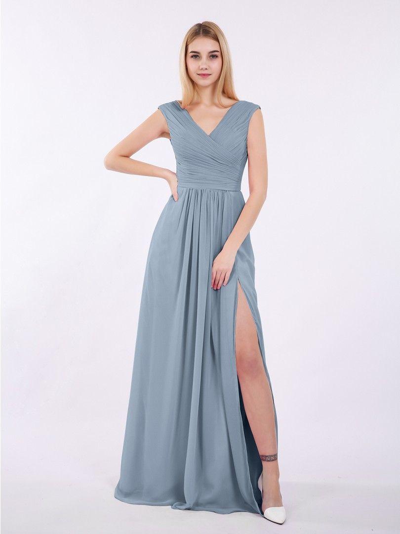 e15e23214bdbf Babaroni Eartha in 2019 | DAD/MISSY wedding | Blue bridesmaid gowns ...