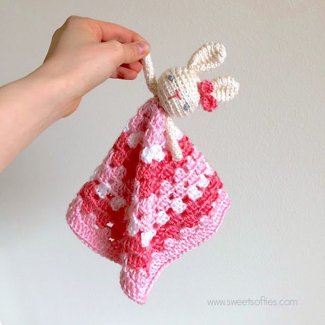 Hi all! I recently crocheted a bunny lovey for my new baby niece ...