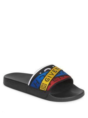 d14a25890a0 GIVENCHY Flat Webbed Logo Slides.  givenchy  shoes