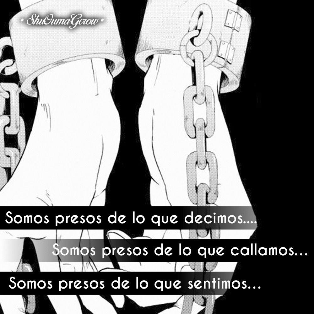 Somos presos #ShuOumaGcrow #Frases_anime