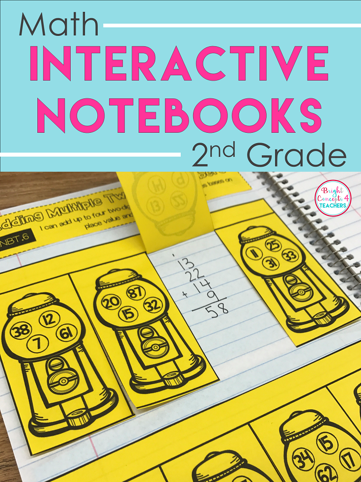 BEST SELLER! This MATH interactive notebook for 2nd grade includes ...