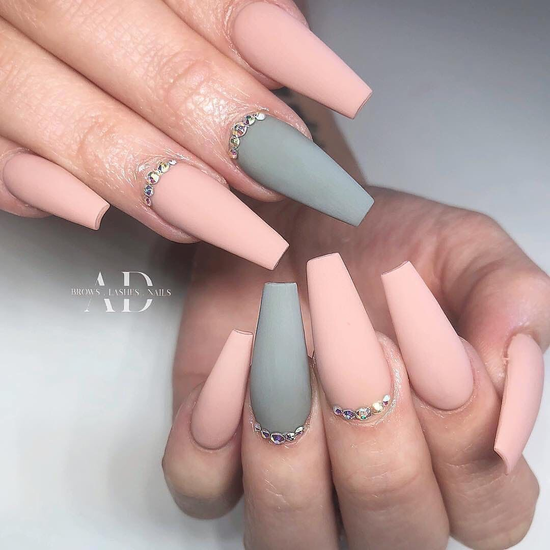 120 Best Coffin Nails Ideas That Suit Everyone Grey Nail Designs Coffin Nails Long Ombre Acrylic Nails