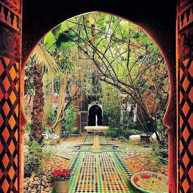 Im Garten Deiner Seele Tiki Waena So Heisst Im Hawaiianischen Schamanismus Der Innere Garten Der Sich In Deinem H Moorish Interior Garden Morocco