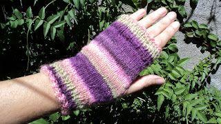 Lace, crochet and more!: Orquidea Fingerless Mitts - Guantes sin Dedos Orquídea