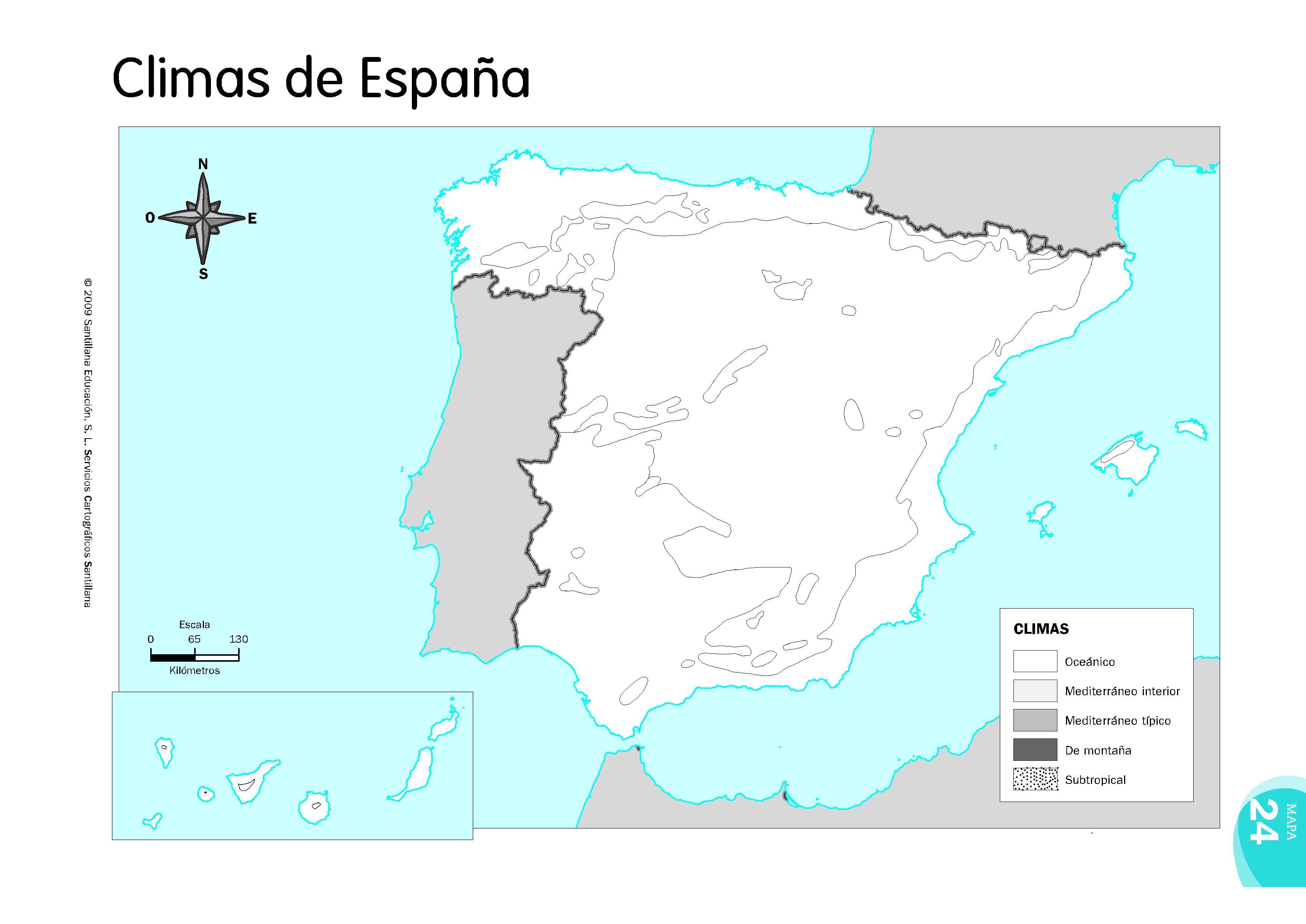 Mapa Climatico De España Mudo.Mapas De Espana Fisicos Politicos Y Mudos Mapa Fisico De