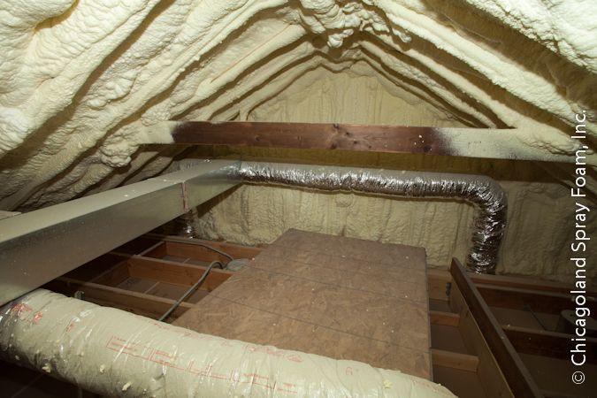 Attic closed cell spray foam attic insulation mechanical attic closed cell spray foam attic insulation solutioingenieria Gallery