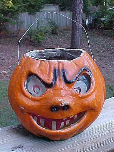 Halloween Paper Mache Pumpkin Lantern Paper Mache Pumpkins Halloween Paper Vintage Halloween Images