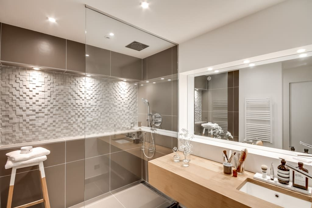 Modern Bathroom By Bypierrepetit Modern Bathroom Design Scandinavian Bathroom Bathroom Interior