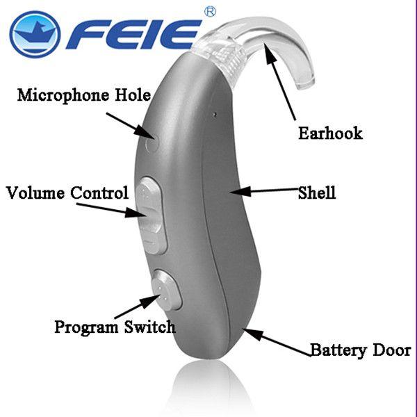 Deaf Sound Amplifier Ear Aid Built-in Tinnitus Masker BTE