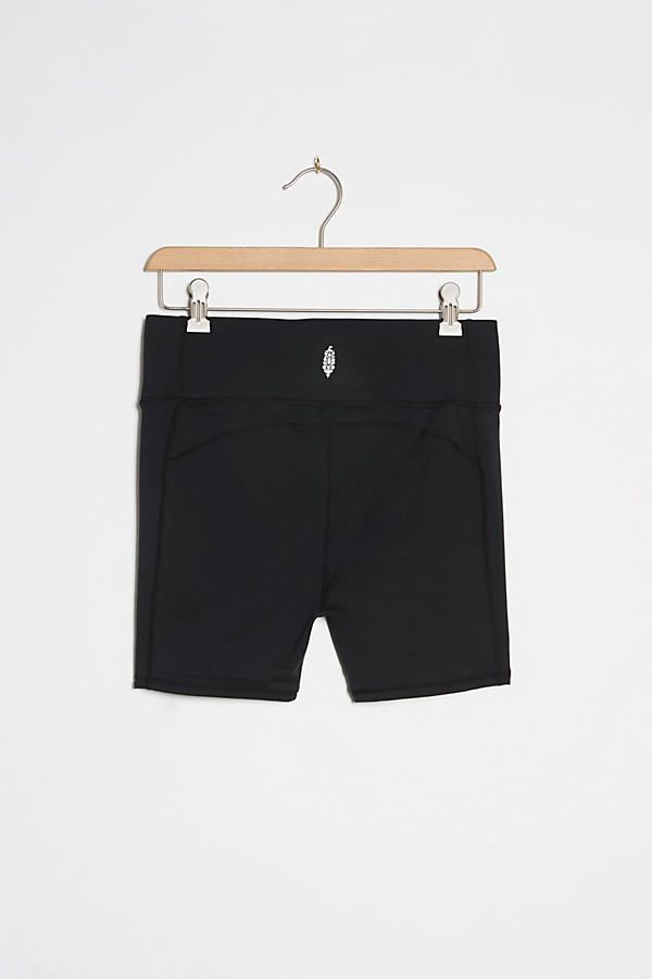 Free People Movement Hang Time Bike Shorts by in Black Size: S, Women's Activewear at Anthropologie