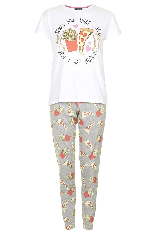 90d57c55db91 Hungry Slogan Pyjama Set - Topshop