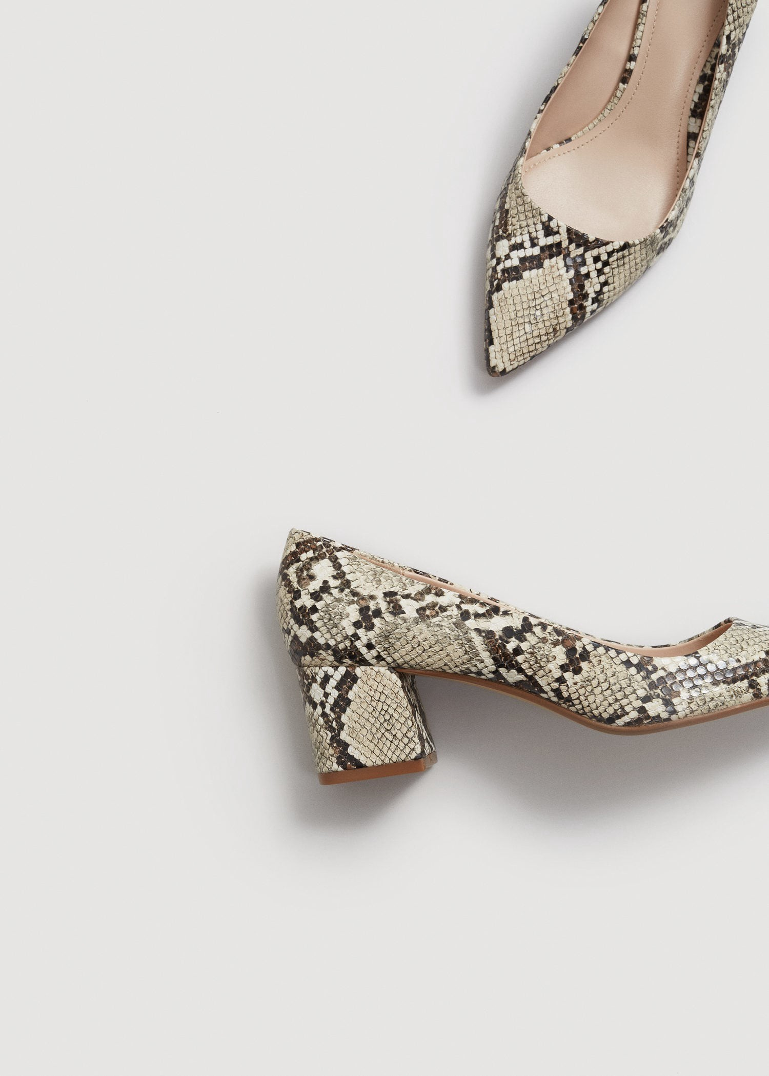 290a0600c5 Mango Snakeskin Print Heeled Shoes - 7½ | Products | Shoes, Shoes ...
