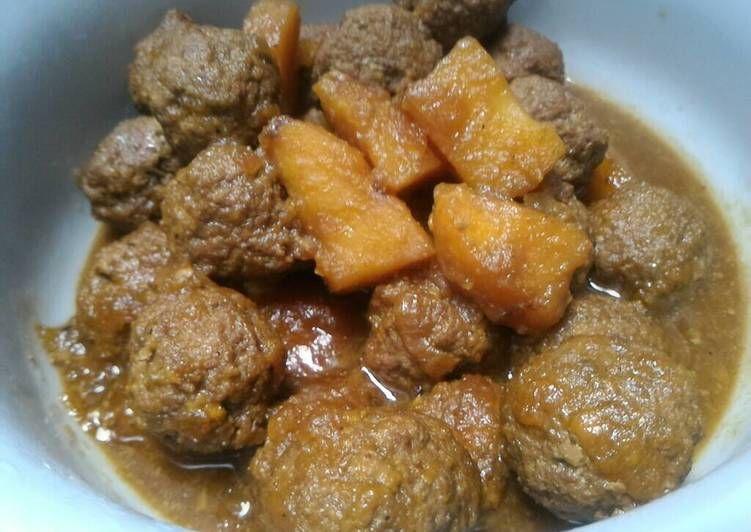 Resep 19 Bistik Bola Bola Daging Kitaberbagi Oleh Laras Athie Resep Resep Makanan Enak Resep Masakan Indonesia