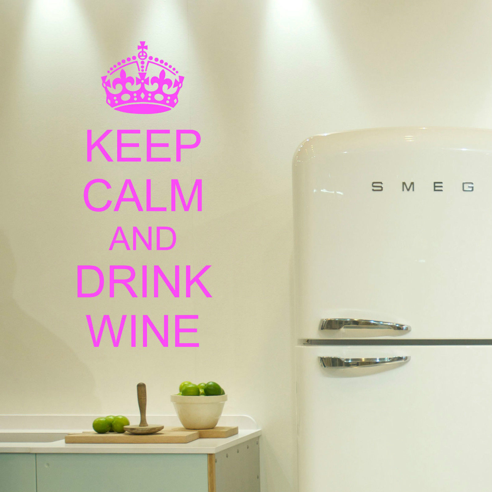 Keep calm and drink wine wall art decal stickers decor kitchen