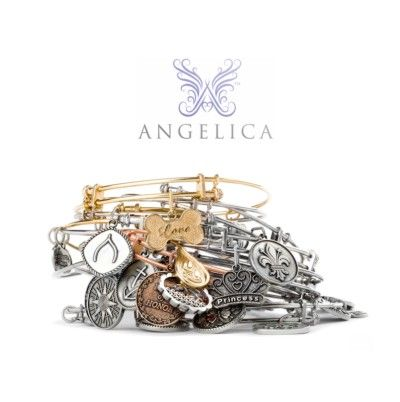The Angelica Collection ~ The trendy stackable bangle with hip dangle charms featuring symbols of spirituality, hobbies, special occasions, and more.  Plus for each bangle sold, the company donates 25 cents to Generation Rescue, a charitable organization that supports programs to improve the quality of life for those affected by autism.  Designed & manufactured in the USA entirely of recycled metals.