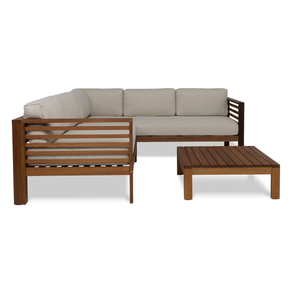 milford 3 piece outdoor lounge set eucalyptus in 2019 products rh pinterest com