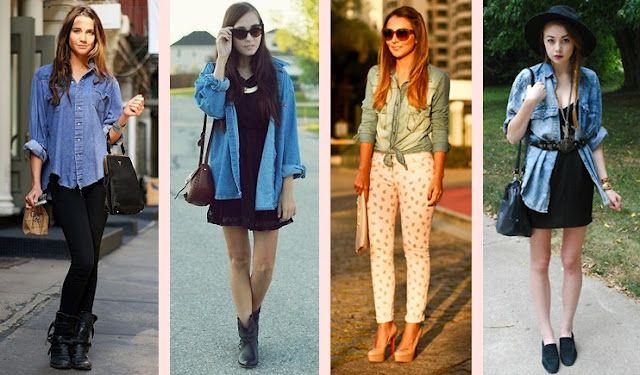 Tudo com Moda: Sobreposição - Camisa Jeans