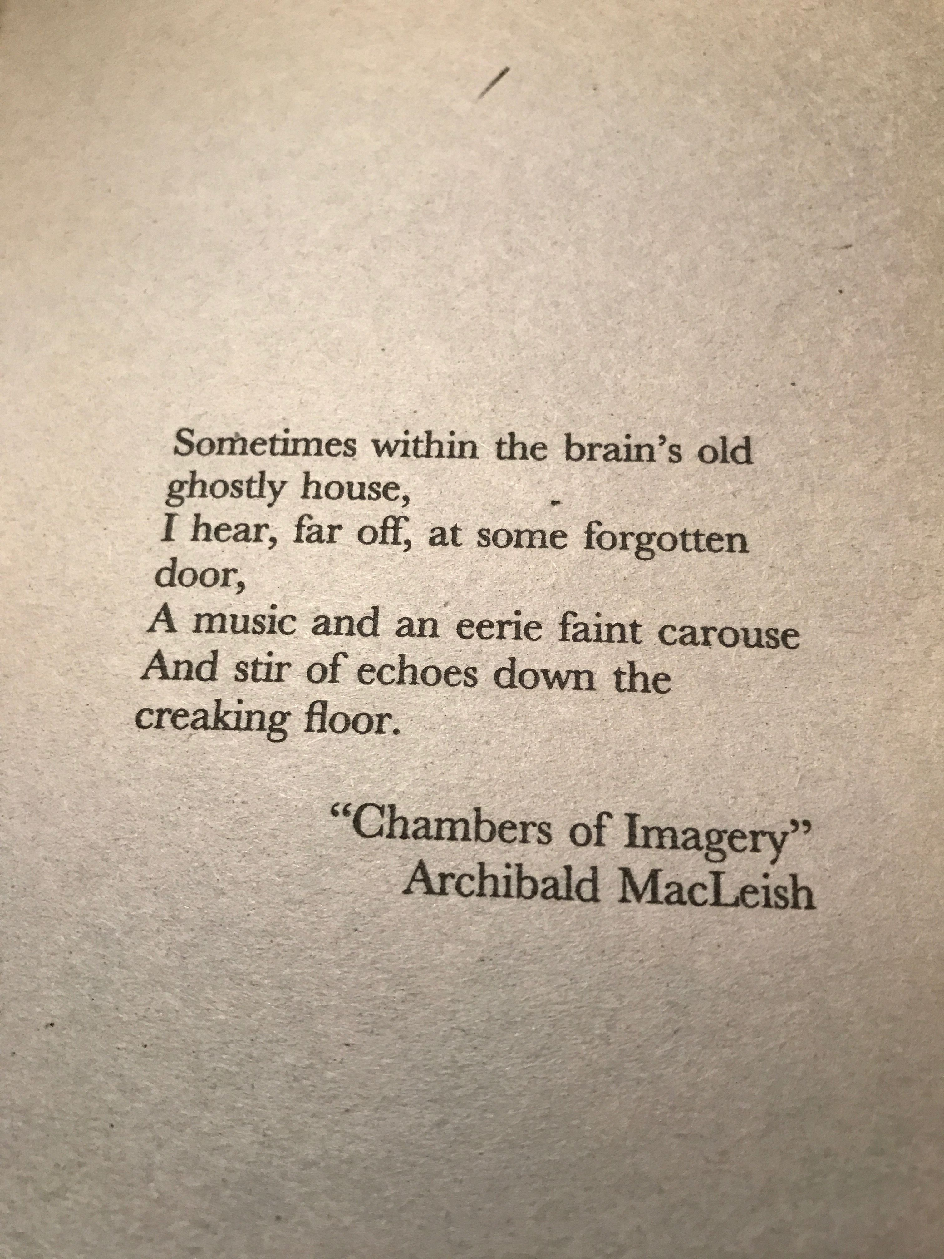 Archibald MacLeish   Literary quotes, Writer quotes ...