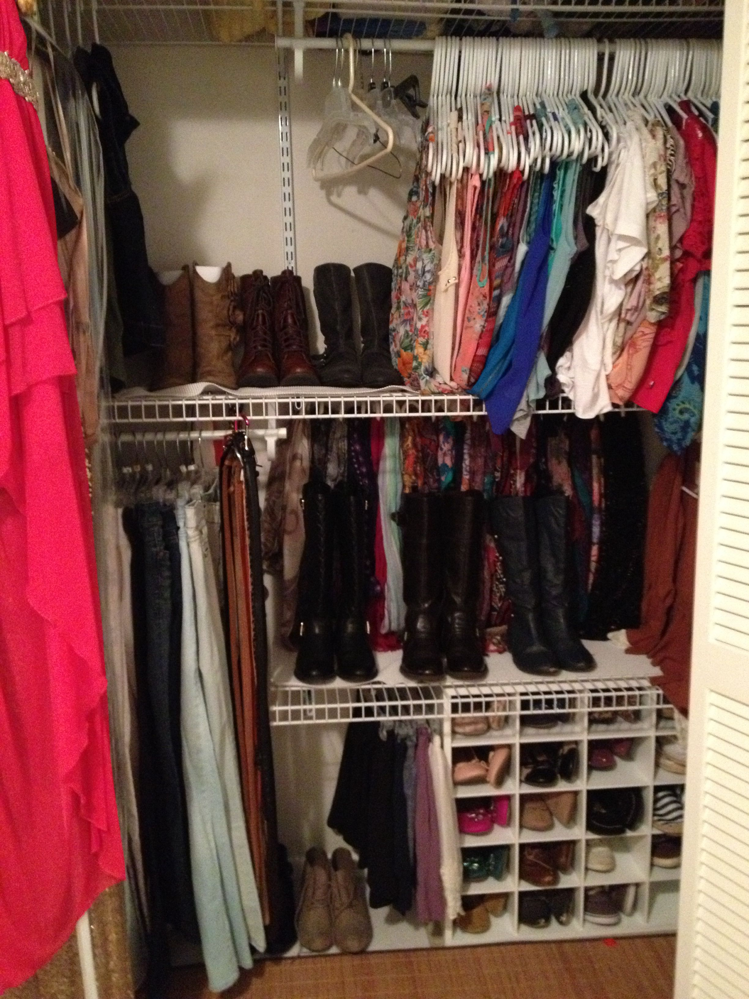 cubicles for shoes boots on second shelf closet organization in rh pinterest ca