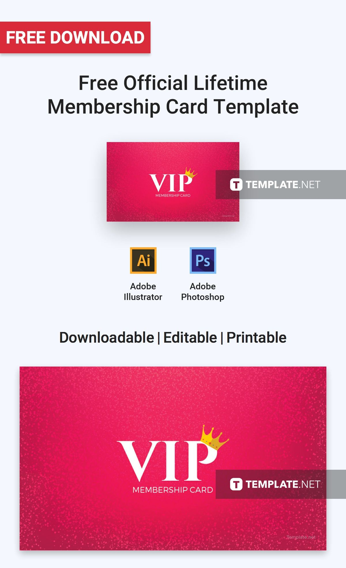 Free Official Lifetime Membership Card Free Card Templates