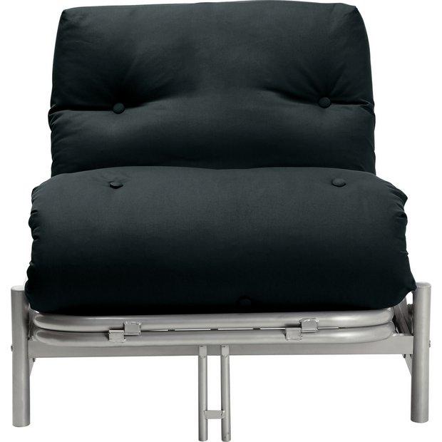 Buy Argos Home Single Futon Metal Sofa Bed with Mattress