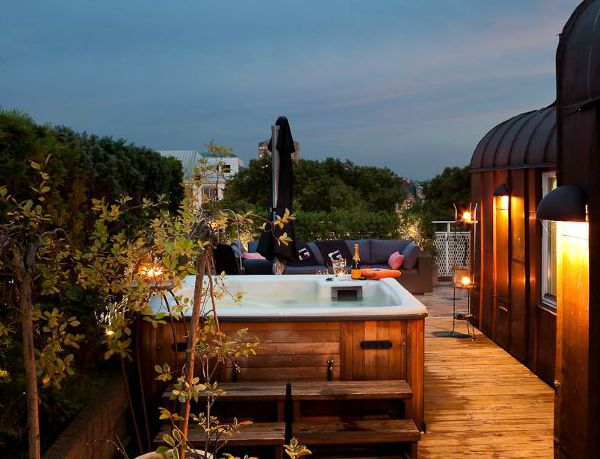 Rooftop Terrace Interior Design Rooftop terrace Rooftop and Hot tubs
