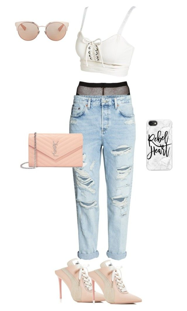 """""""Untitled #46"""" by melgg on Polyvore featuring H&M, Puma, Yves Saint Laurent, Casetify and Christian Dior"""