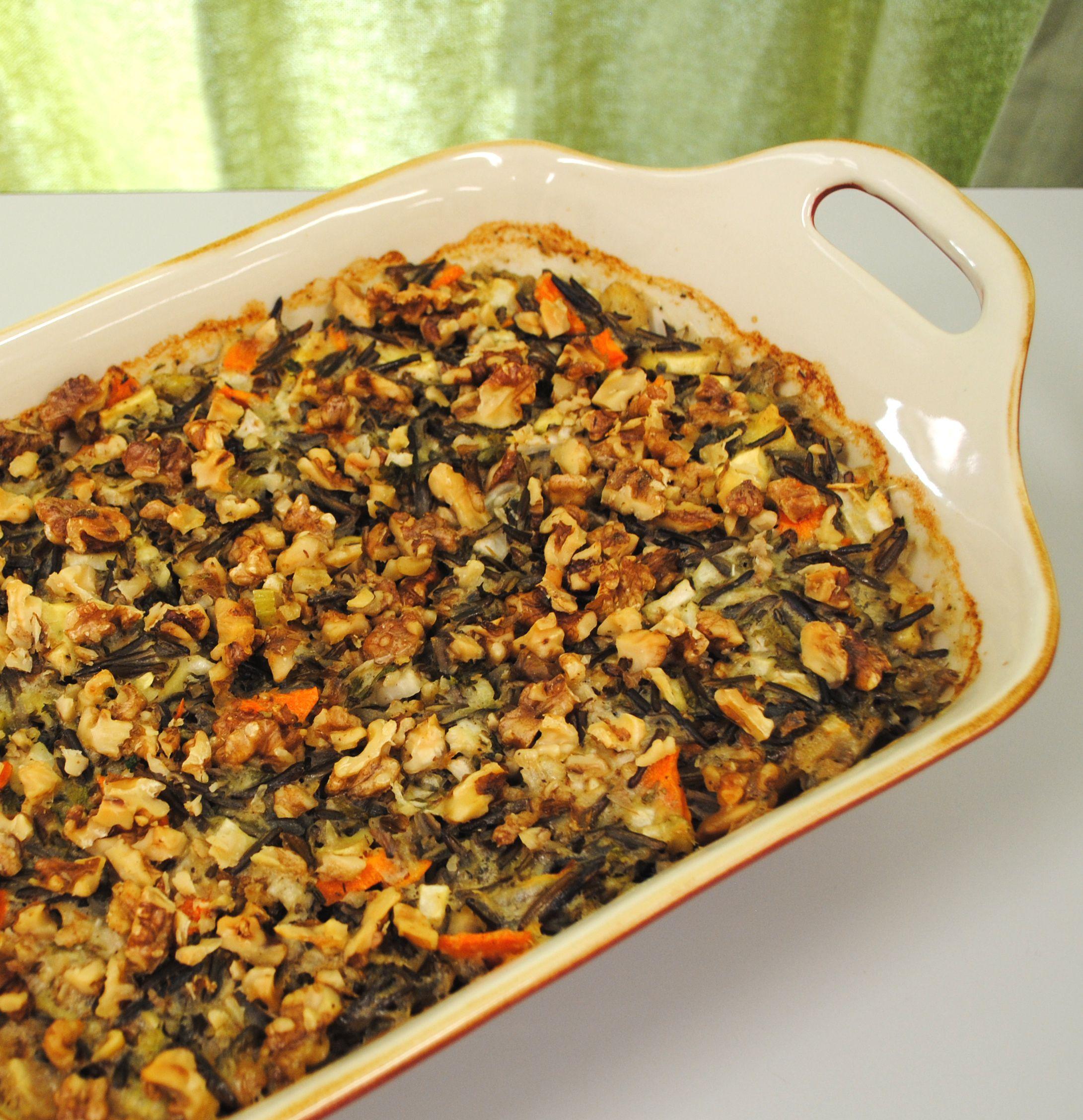 Creamy Wild Rice & Vegetable Bake Baked vegetables, Food