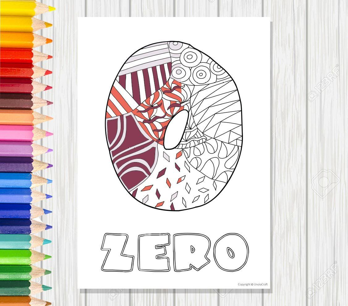 Zero Coloring Page Numbers Coloring Pdf Number Coloring Page Kids Coloring Page Instant Coloring Learning Printable Ma Coloring Pages Etsy Handmade Gifts