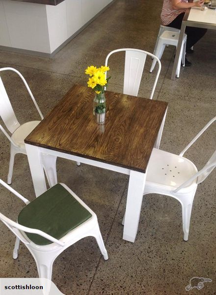 cafe tables six custom made wood trade me ideas for my rh pinterest co uk
