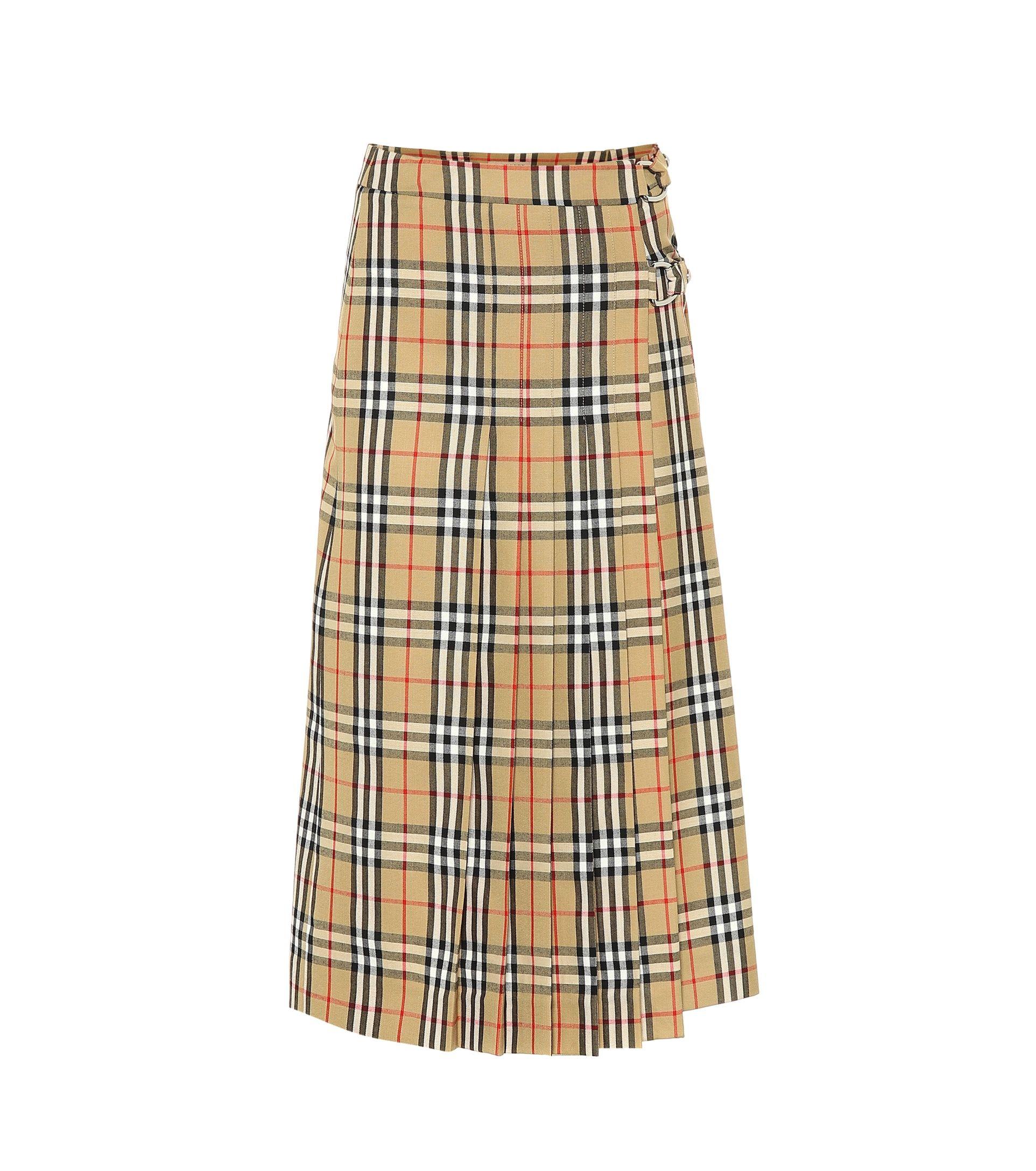 169137646598 Burberry - Check wool skirt | Mytheresa | Skirts | Burberry skirt ...