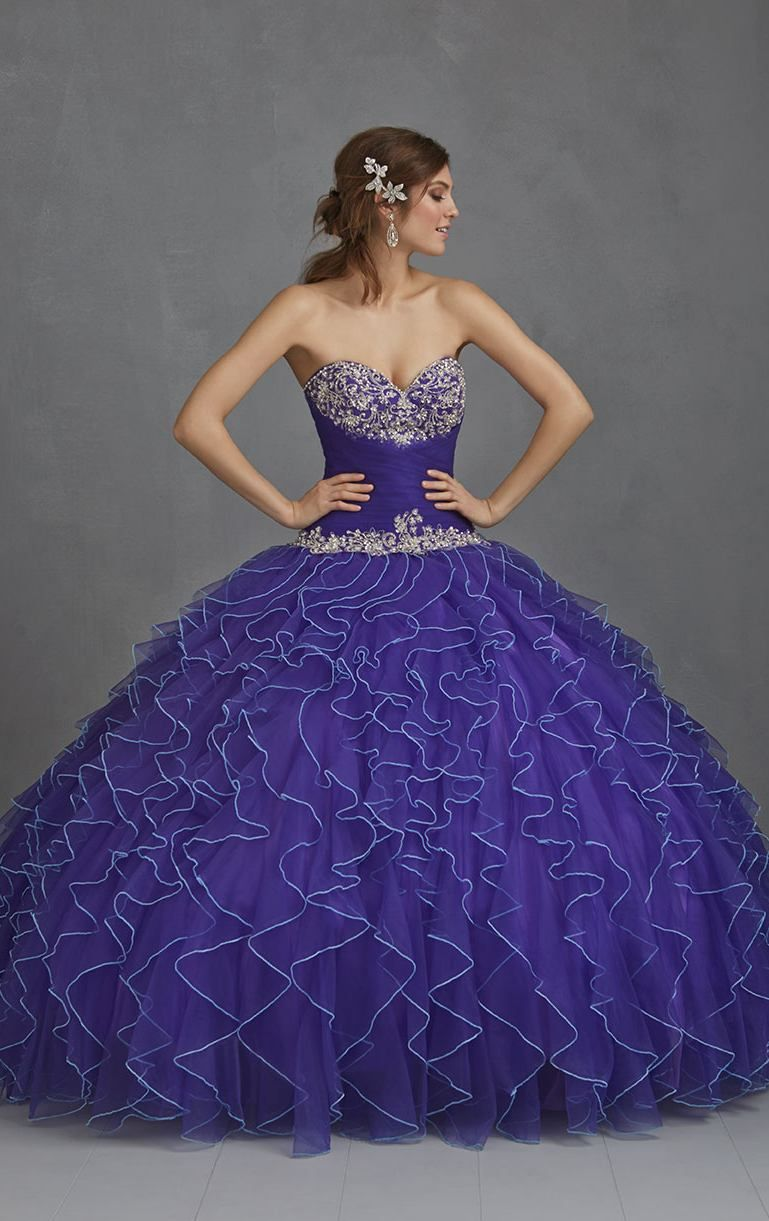 Unique Royal Blue Quinceanera Dresses Sweetheart Strapless Ball Gown ...