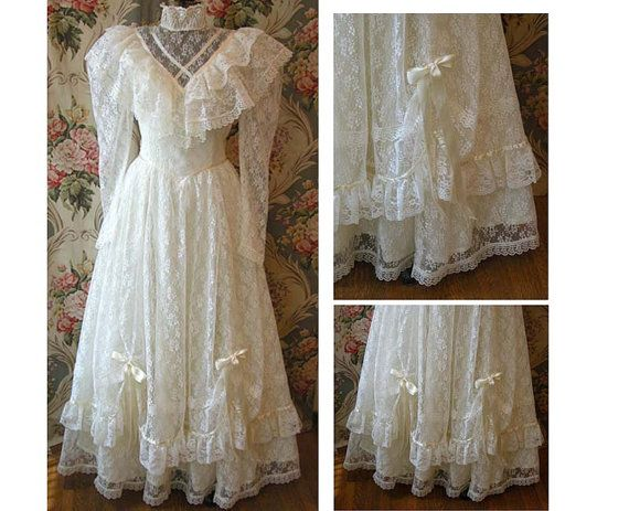 1980 Jessica McClintock Wedding Dress