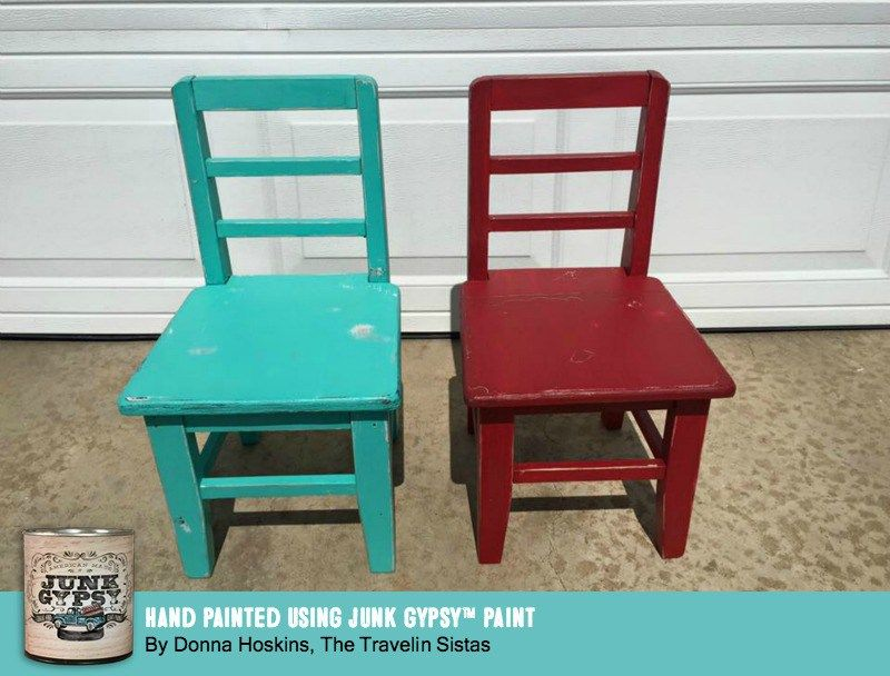 little chairs painted using junk gypsy paint by donna hoskins of the rh pinterest com