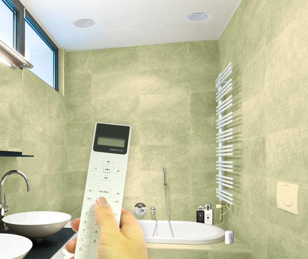 Bathroom Radio With Ceiling Speakers Featured Kb Sound Iselect