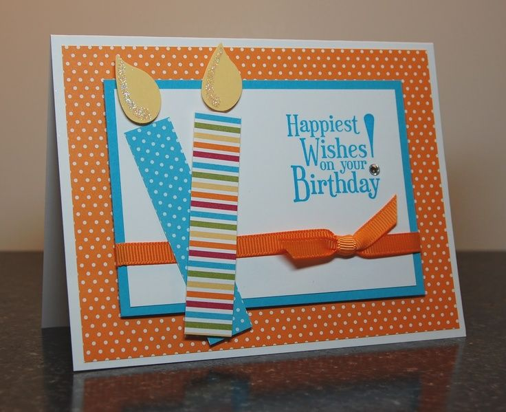 Bright And Simple Handmade Birthday Card Using Stampin Up Products