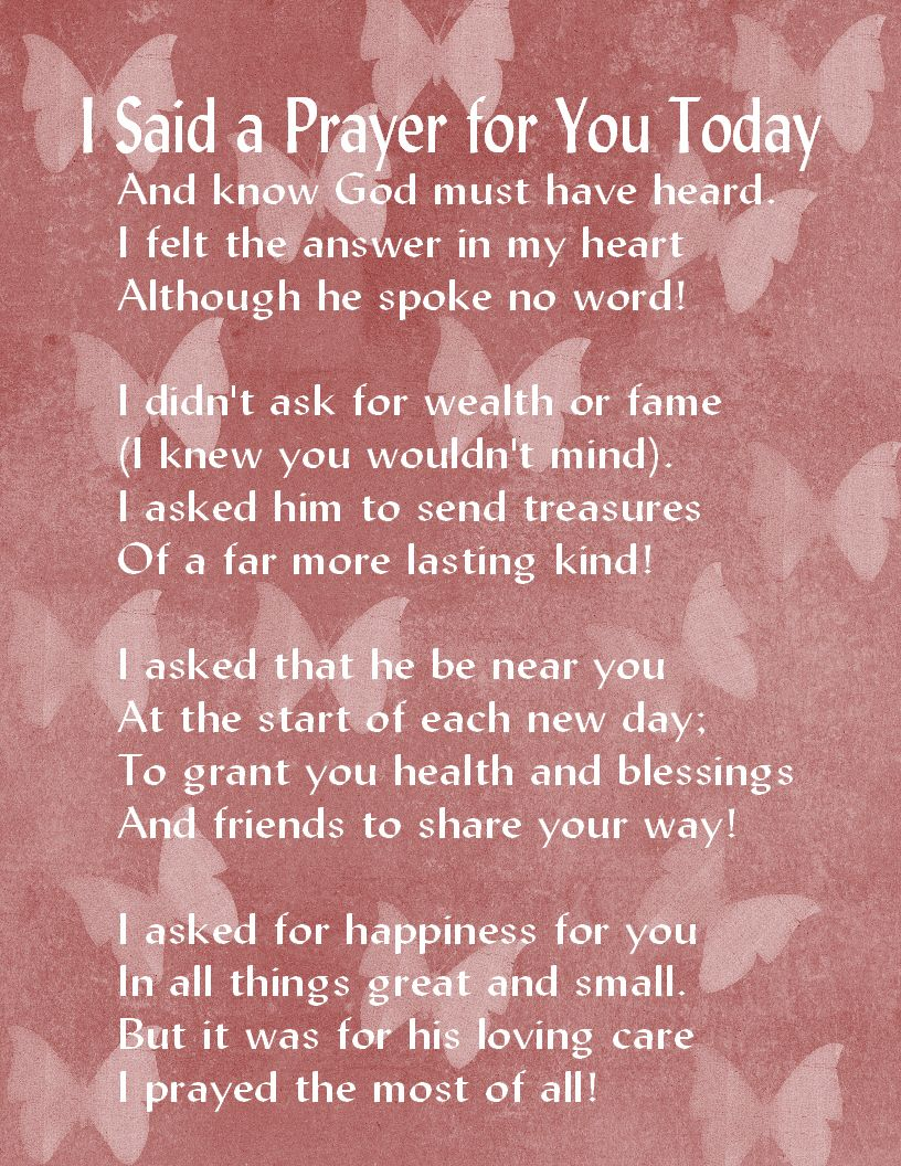 My Prayer For You Today Gaels Crafty Treasures I Said A Prayer