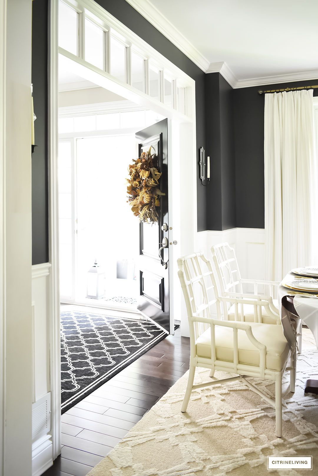fall home tour using rich colors brass and gold super sweet rh pinterest com