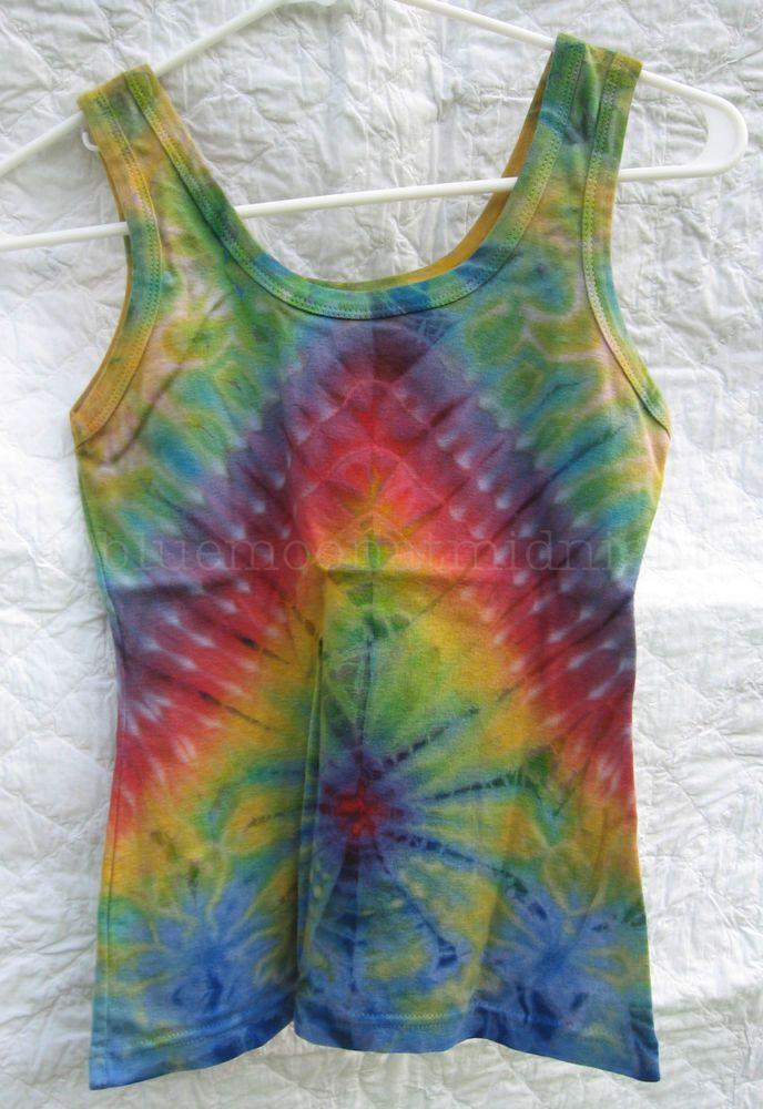 2aae59f79b809 Rainbow Multi-Color Tank Top Shirt Tie Dye Hippie Festival Junior Size XS  NWOT
