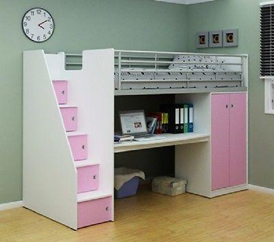 ani pink cabin bed study desk bigmickey ie in 2019 loft beds rh pinterest com