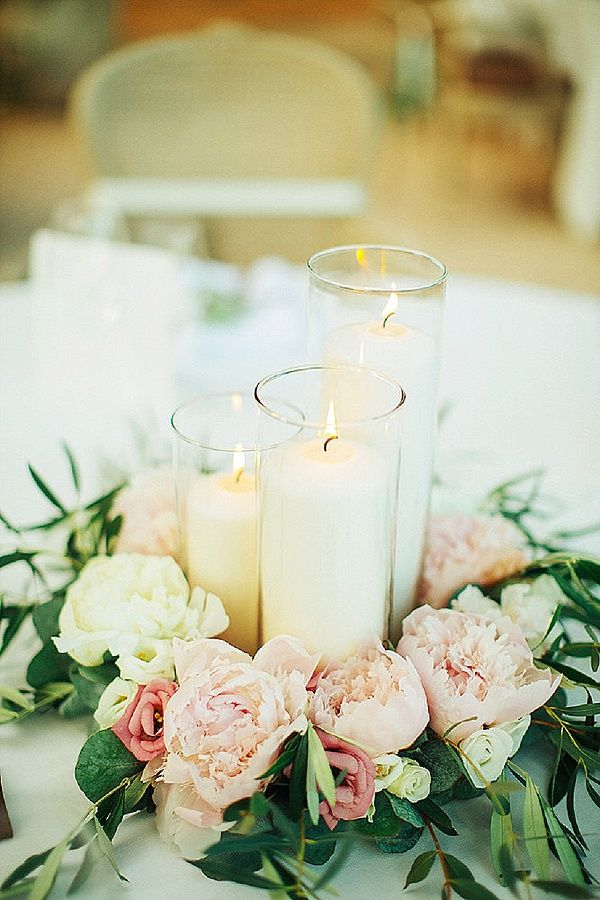 centerpieces for wedding receptions with candles%0A Sweet  u     Rustic Provencal Wedding  Candle CenterpiecesShort