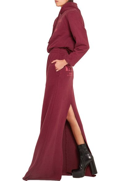 Vetements - Printed Cotton-blend Jersey Maxi Skirt - SALE20 at Checkout for an extra 20% off