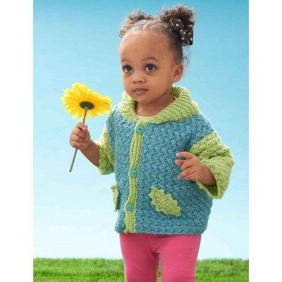 Free Intermediate Baby Cardigan Crochet Pattern