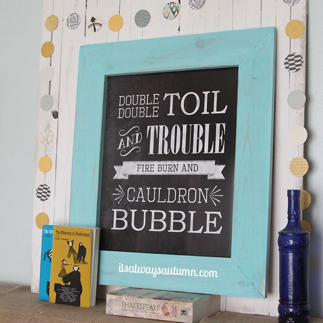 how to build a diy wood frame for photos and printables by its always autumn - Diy Framed Chalkboard