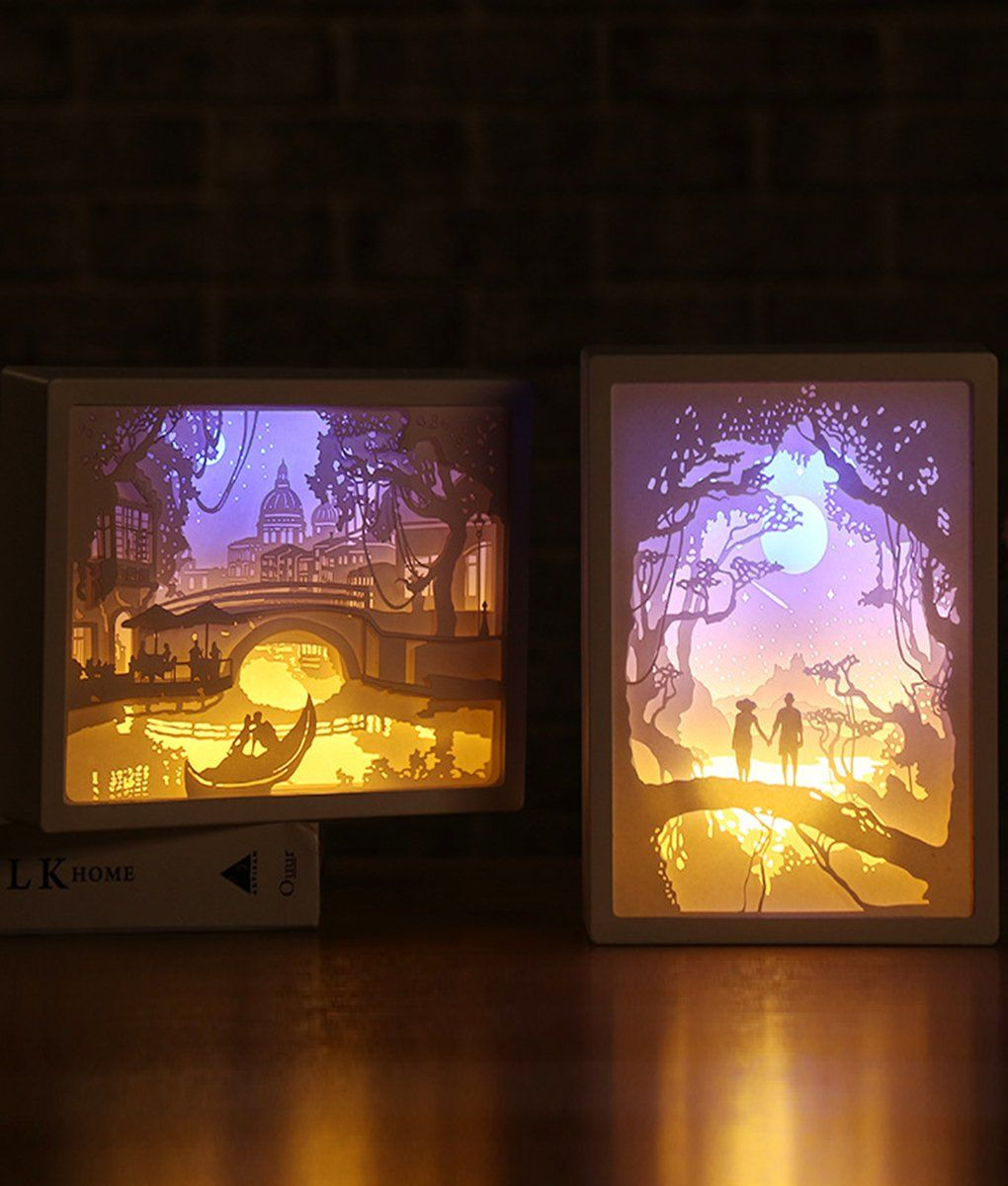 3d Paper Carving Night Lights Paper Carving Night Lights Paper Carving 3d Paper Paper Art Craft