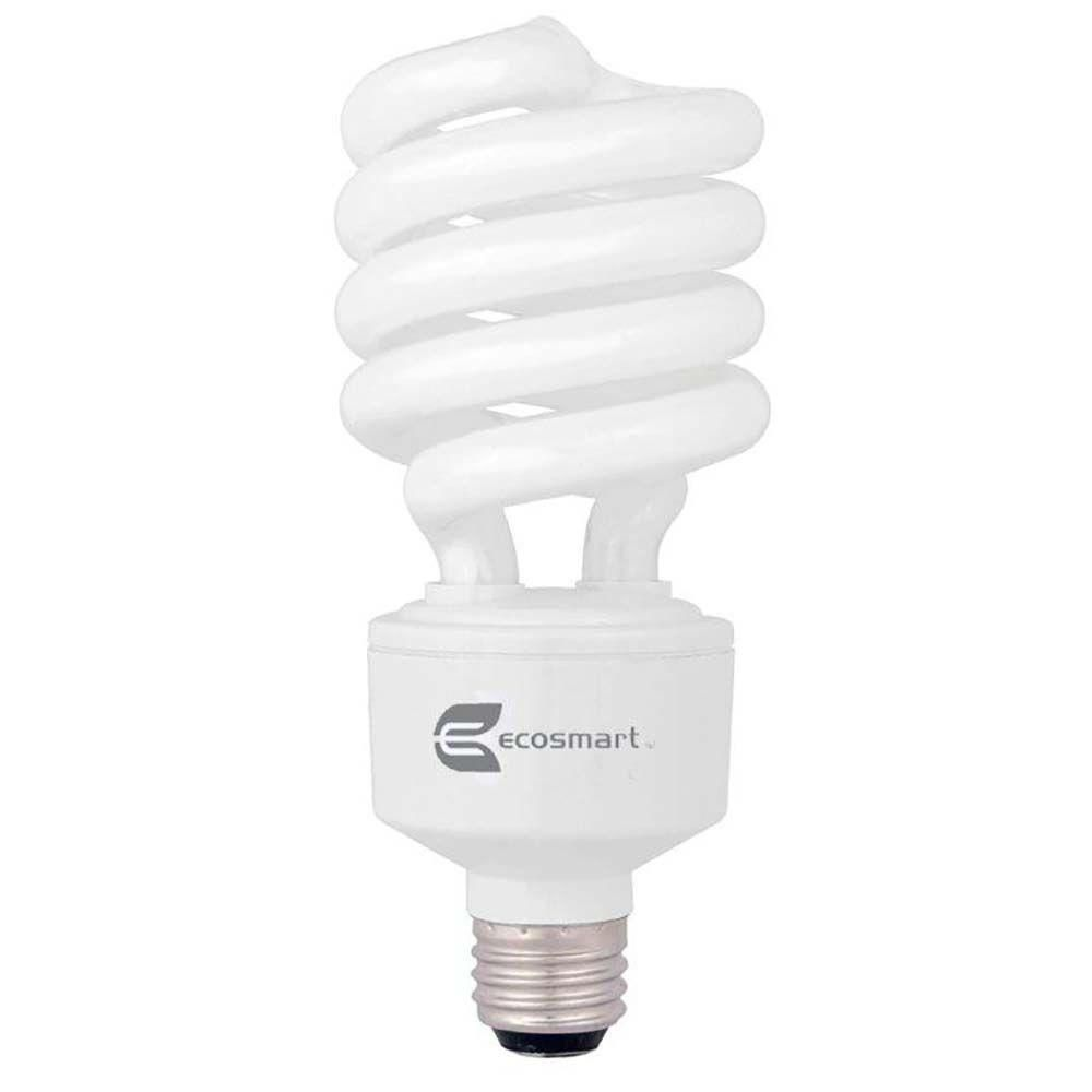 Ecosmart 150w Equivalent Soft White Spiral 3 Way Cfl Light Bulb Light Bulb 3 Way Light Bulb Bulb