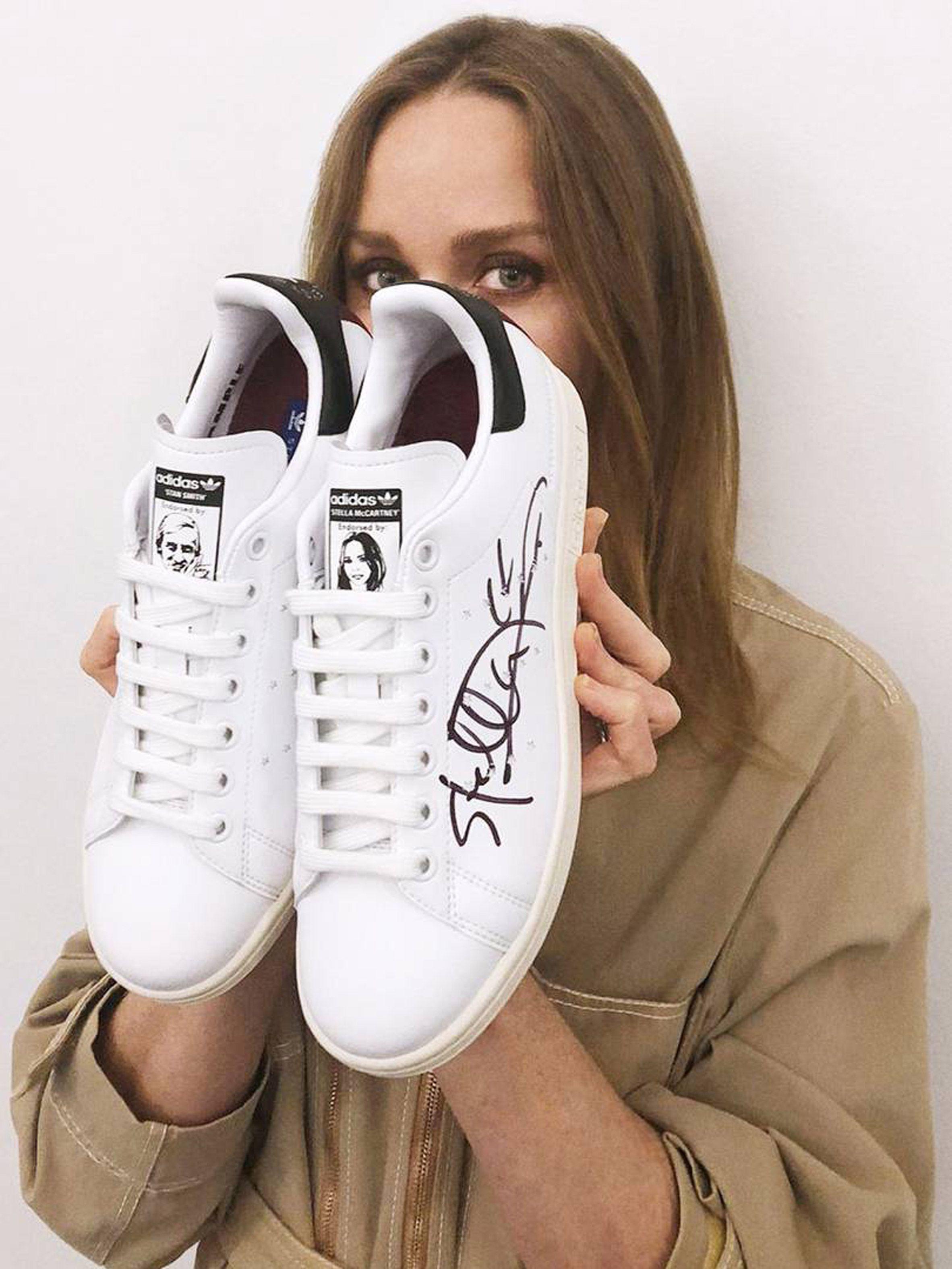 ea3bdae706ae Stella McCartney and Adidas launch vegan Stan Smiths