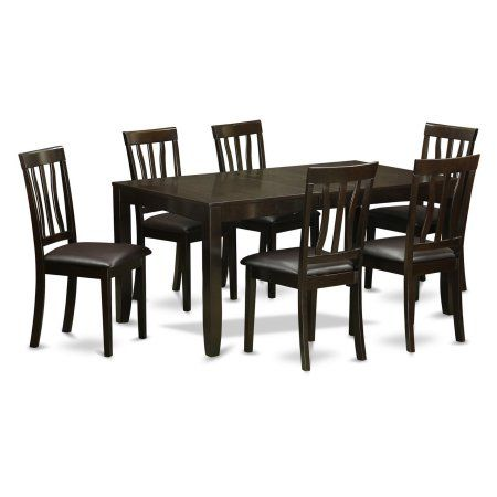 east west furniture lynfield 7 piece extension dining table set with rh pinterest com